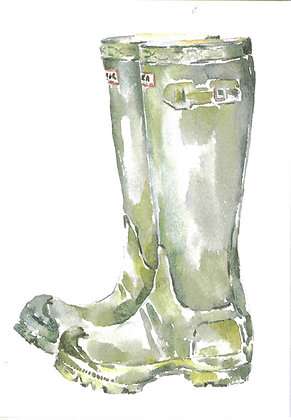 Welly Boots - Print