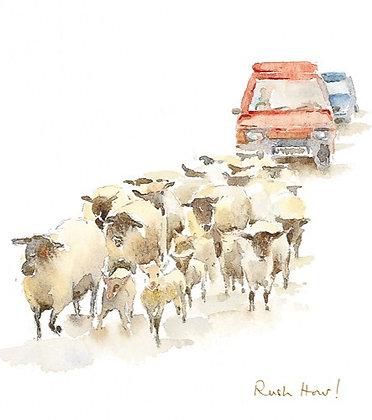 Rush Hour!A4 Portrait Print