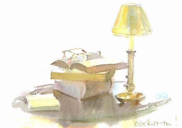 Bookworm (A4 print)