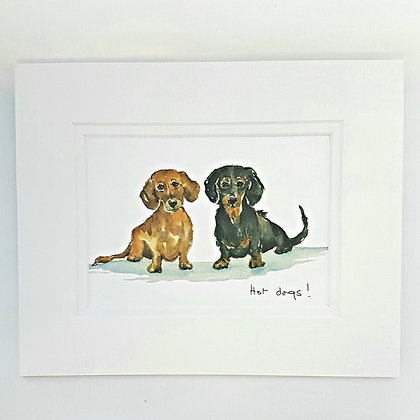Hot Dogs Gift Mounted Card