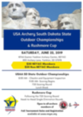 2019 USA Archery South Dakota State Outd