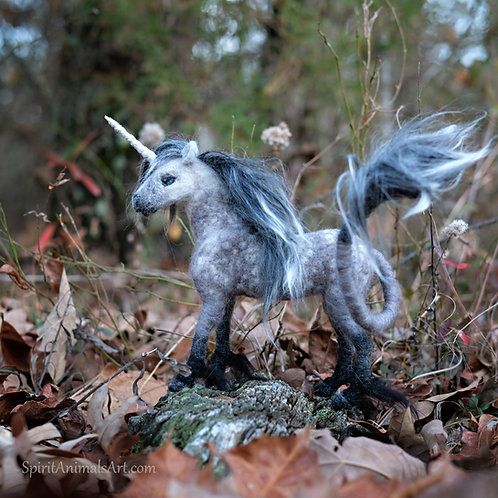 Needle felted unicorn sculpture. Ready to ship