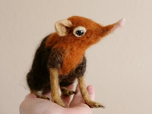 Giant Black and Rufous elephant shrews, Sengi, Needle felted, mated pair, READY