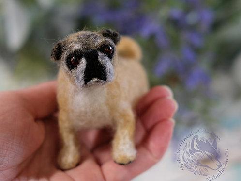 """3-5"""" Pet Portrait wool sculpture   /Aug"""