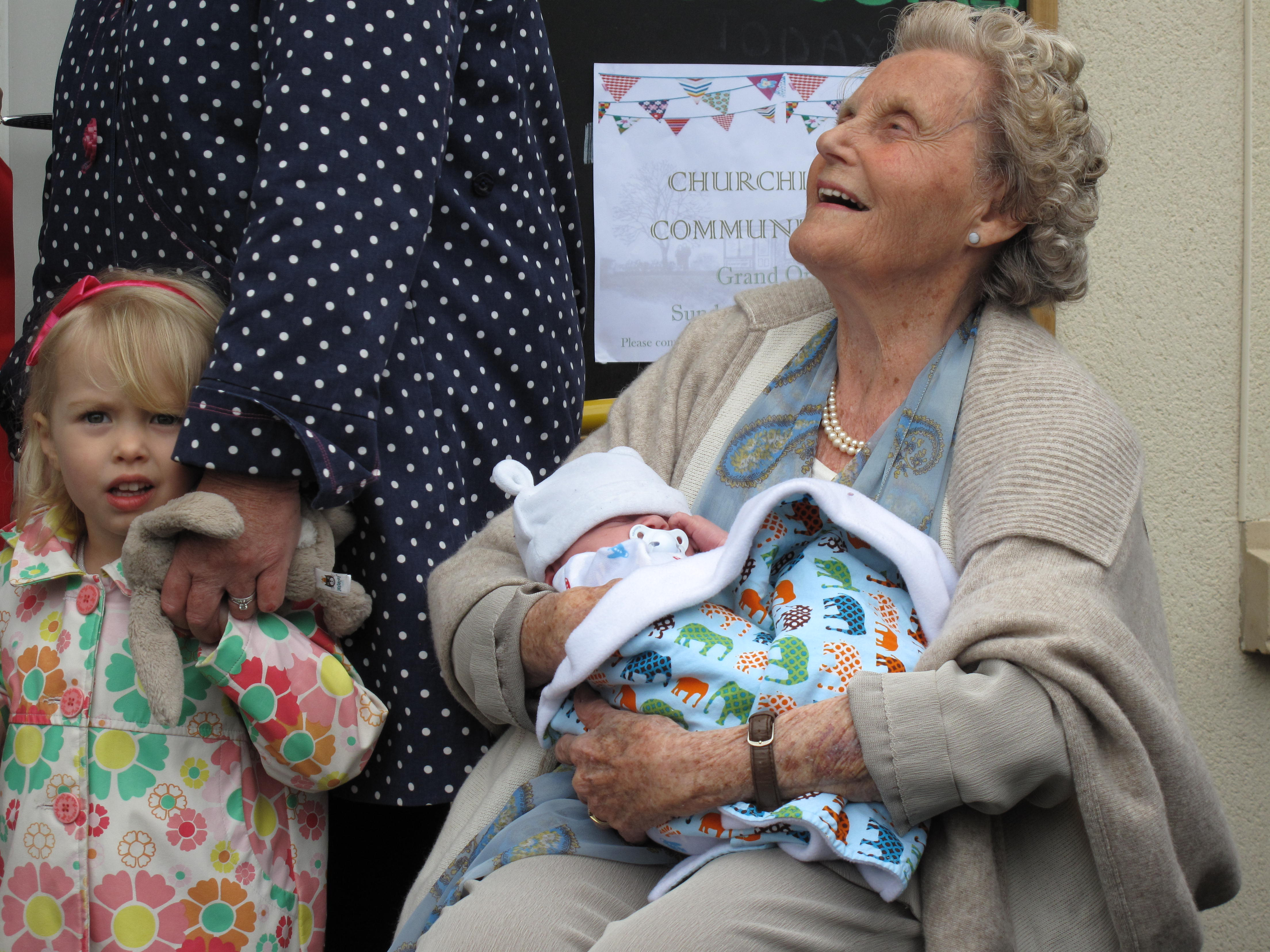 Special guests- oldest and youngest in the village
