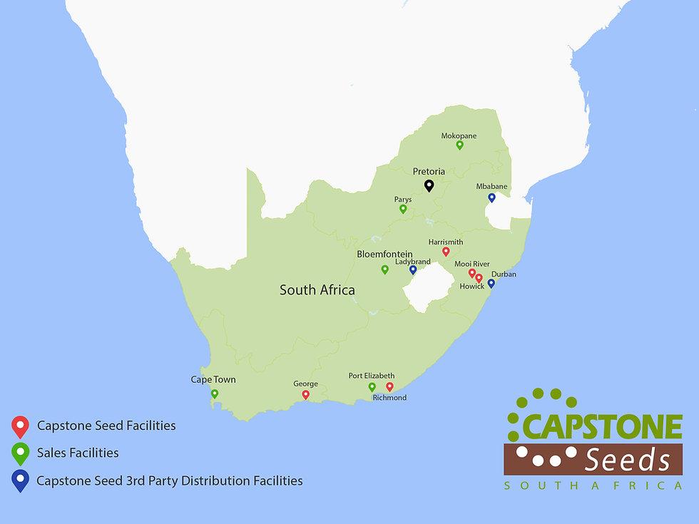 Map of Capstone Seeds facilities