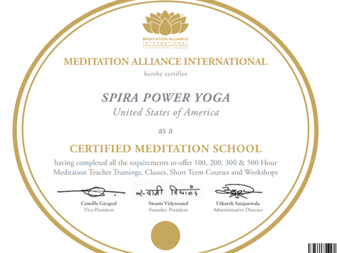 We are a Globally Certified Meditation and Yoga School