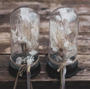Glaskuppel mit Füllung