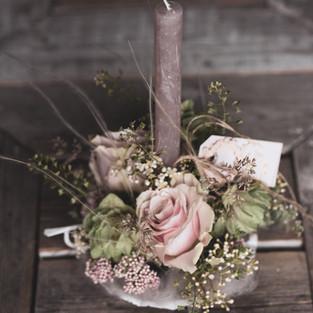 Frischblumen Kerzenhalter