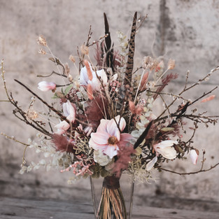 Haltbarer Trockenblumenstrauss