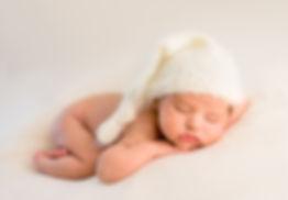 Newborn Baby Photograph in White
