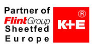 "Logotipo: ""Partner of FlintGroup Sheetfed Europe K+E"