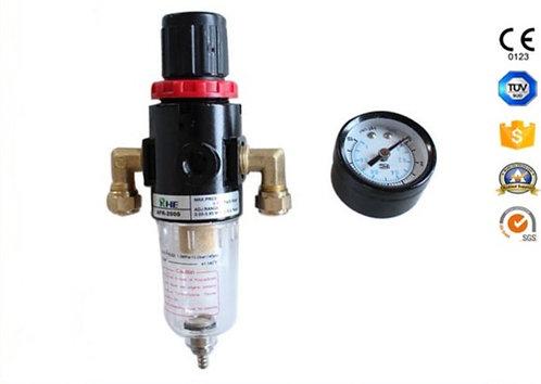 Válvula reductora de aire con botella de filtro de vidrio