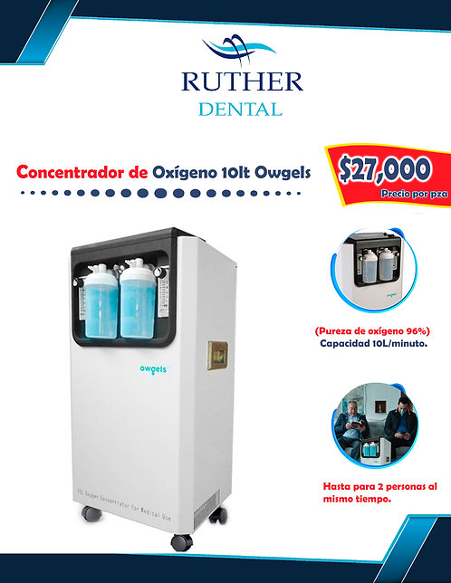 Concentrador de oxígeno 10L Owgels