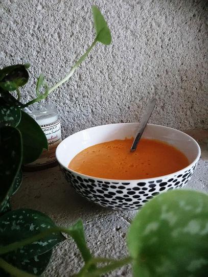 soupe de poivron et de patate douce