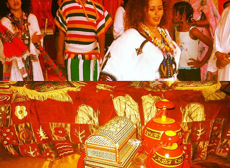 When Cultures Meet: Ethiopian Dancers at Wedding in Sudan