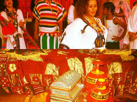 When Cultures Meet: Ethiopian Dancers at Wedding in Sudan