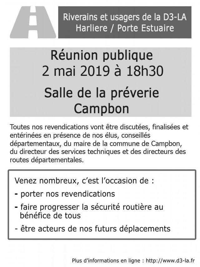 Réunion publique du 2 mai 2019