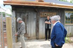 Linda opening the main gate