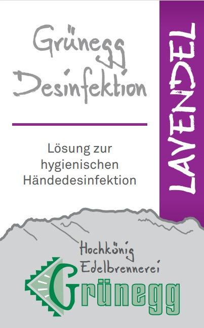 """Grünegg Händedesinfektion """"Lavendel"""""""