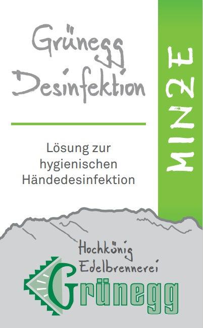 "Grünegg Händedesinfektion ""Minze"""