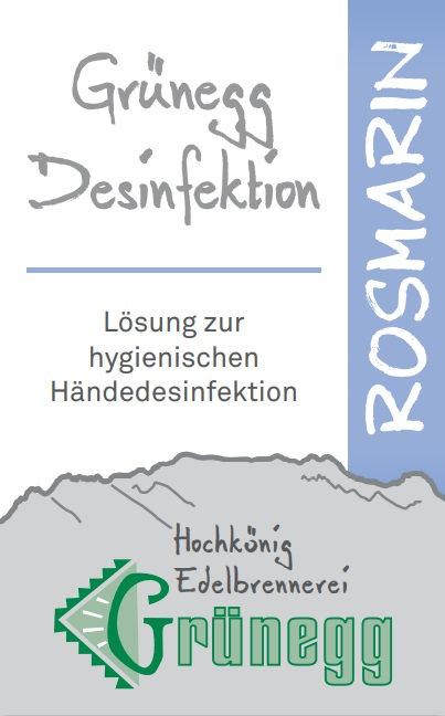 """Grünegg Händedesinfektion """"Rosmarin"""""""