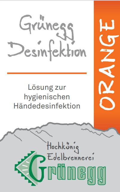 "Grünegg Händedesinfektion ""Orange"""