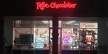 Evening view of Rose Chocolaier