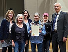 Lemonade Living founder Melissa Arias joins Council recognition of George Strickfaden Day.