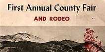 Cover of souvenir brochure from first (1955) County Fair and Rodeo
