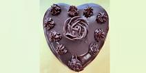Rose Chocolatier's ganache heart-shaped cake