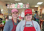LAHS teachers Robyn Collom, left, and Analicia Ronquillo work the register at Rose Chocolatier. Courtesy/LAPS