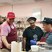 LAHS Living Skills students check out Rose Chocolatier in Central Park Square.