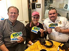Phil Gursky, Melissa Arias, and Ben Stone at KRSN.