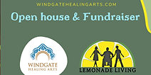 Flyer for Windgate Healing Arts Open House and Fundraiser