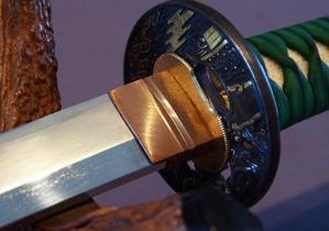 Habaki en cuivre avec double gorges