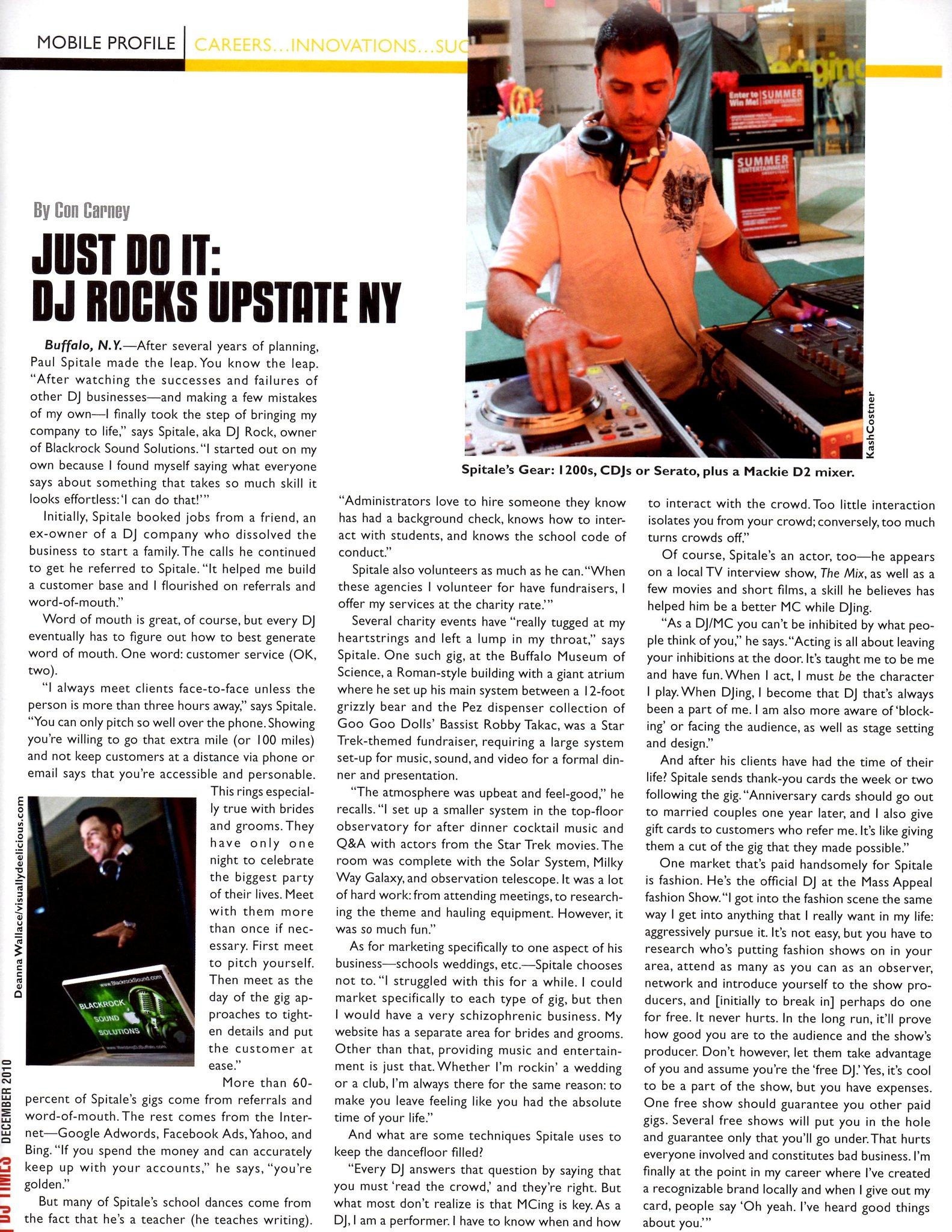 DJ Times Magazine Interview