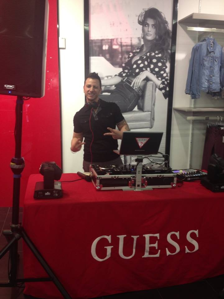 Spinning at GUESS Retail Store