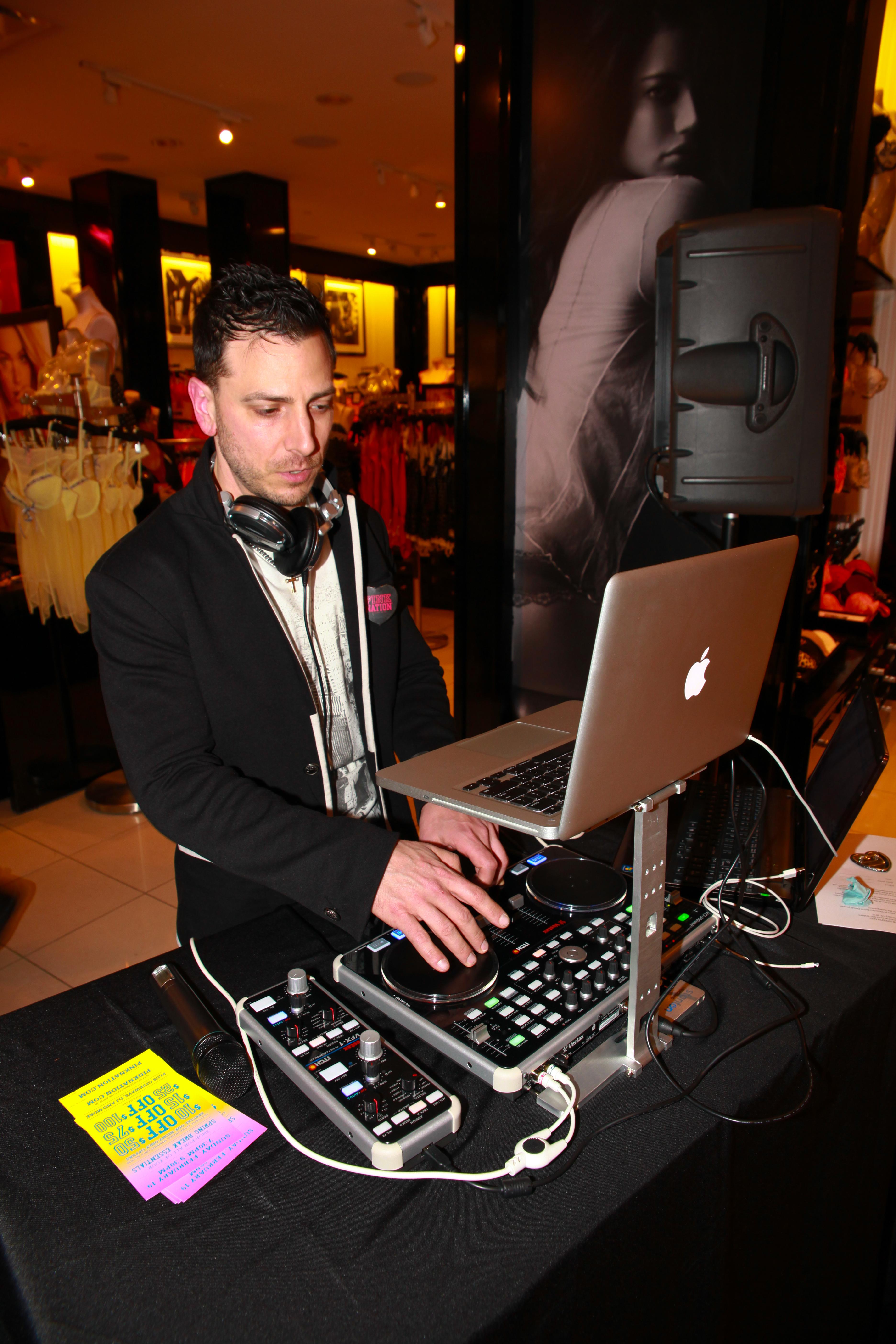 DJ Rock at Victoria's Secret
