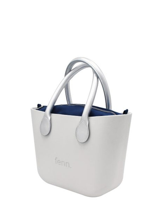 Fenn Petite Bag - White & Silver