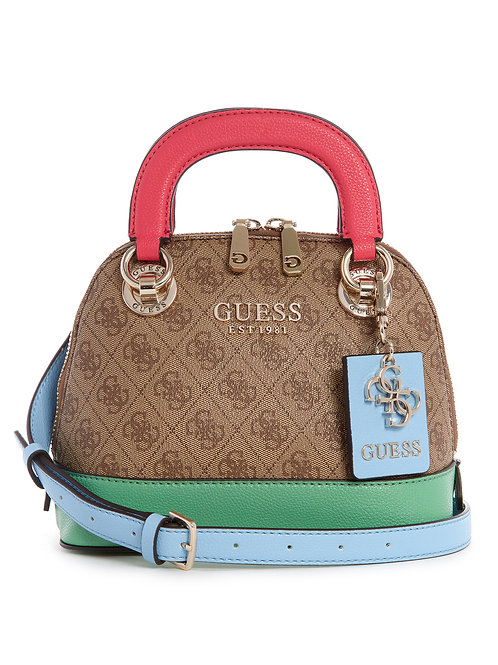 Guess Cathleen Small Dome Satchel - Latte