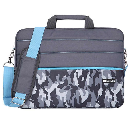 BestLife Campus 15.6 Inch Laptop Bag - Grey Camouflage
