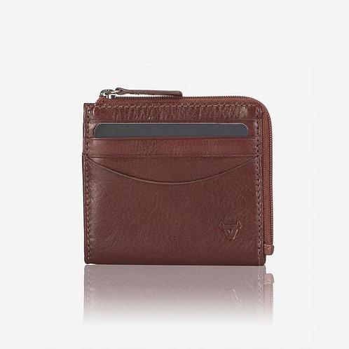 Brando Dakota Zip Card Wallet - Brown