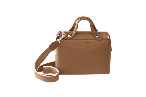 Jo Borkett Sporty Pebbled Crossbody Handbag - Brown