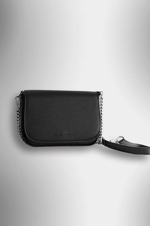 Jo Borkett Crossbody Chain Strap Handbag - Black