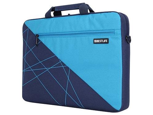 BestLife Laptop Briefcase - Black & Blue
