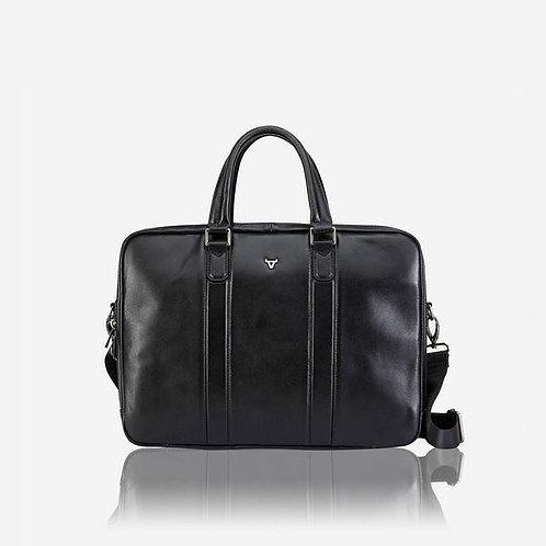Brando Cassidy 15 Inch Slimline Double Compartment Laptop Briefcase - Black