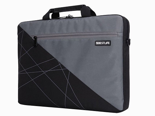BestLife Laptop Briefcase - Black & Grey