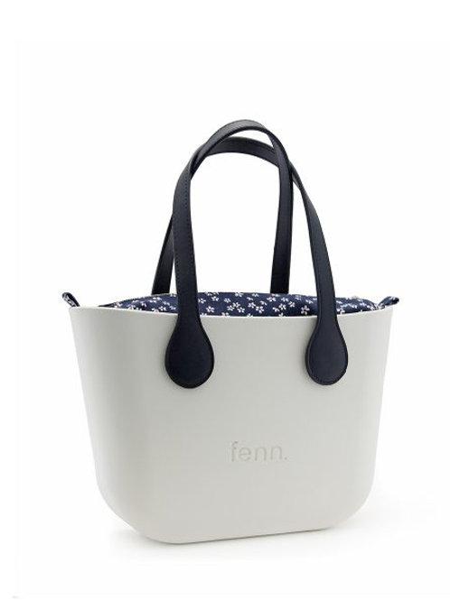 Fenn Petite Bag - White & Navy