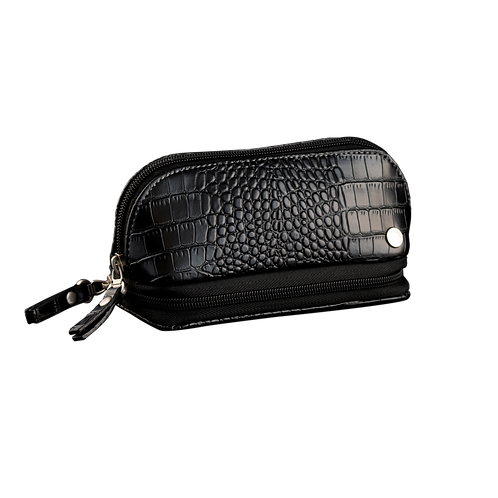 CaraMia Cosmetic Jewel Case - Black Croco